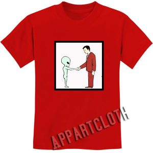 Alien Handshake With Man Funny Shirts