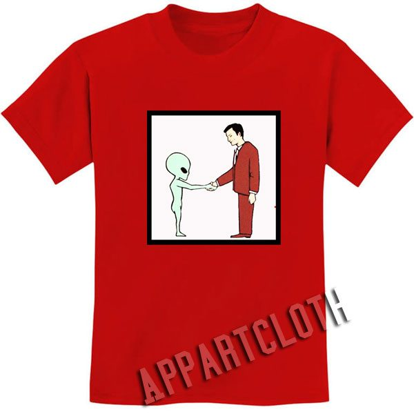 Alien Handshake With Man Funny Shirts