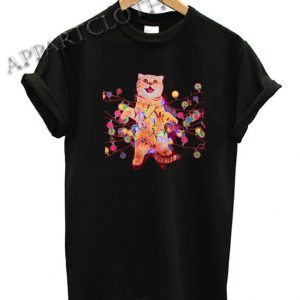 Christmas Cats in Lights with LED Funny Shirts