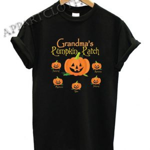 Grandma's Pumpkin Patch Personalized Halloween Funny Shirts