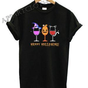 Halloween Wine Funny Shirts