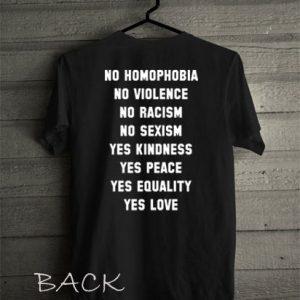 No Homophobia etc Funny Shirts