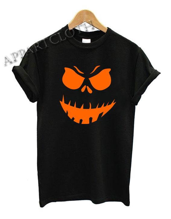 Scary Pumpkin Halloween Funny Shirts