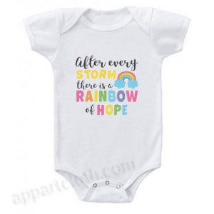 After Every Storm There is a Rainbow of Hope Funny Baby Onesie