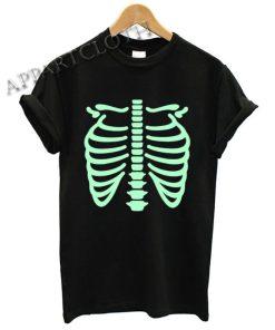 Halloween Skeleton Rib Cage Shirts