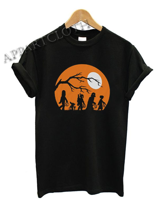 Star Wars Vader Yoda Boba Fett Leia chewbacca Halloween Pumpkin Funny Shirts