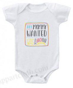 All Mommy Wanted Was A Backrub Funny Baby Onesie