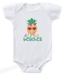 Aloha Beaches Funny Baby Onesie