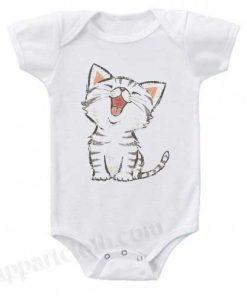 American Shorthair happy Funny Baby Onesie
