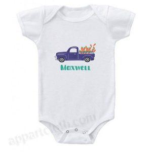 Carrot Truck Funny Baby Onesie