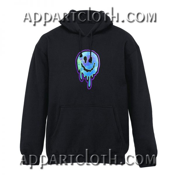 Dripping smiley face Hoodies