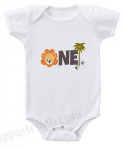 First Birthday Jungle Boy Funny Baby Onesie