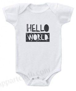 Hello World Funny Baby Onesie