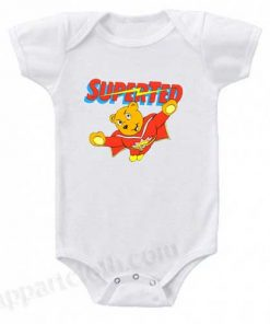 Super Ted Funny Baby Onesie