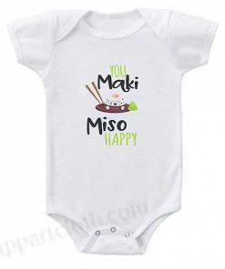 You maki miso happy Funny Baby Onesie