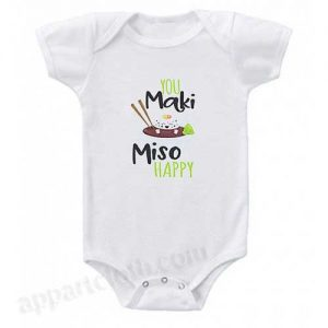 You maki miso happy Funny Baby Onesie