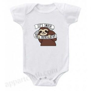 Feminist Sloth Smash the Patriarchy Funny Baby Onesie
