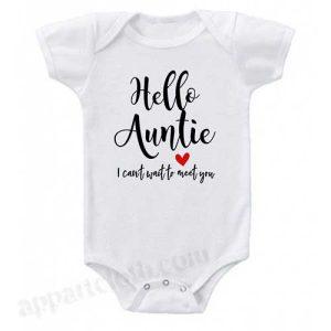 Hello Auntie Funny Baby Onesie