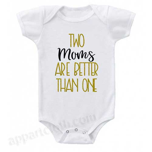 Two Moms Funny Baby Onesie