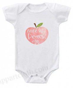 cute little peach Funny Baby Onesie