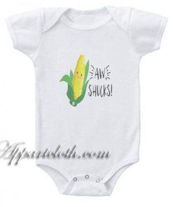 AW Shucks Corn Funny Baby Onesie
