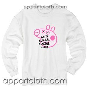 Anti Social Social Club X Peppa Pig Unisex Sweatshirts