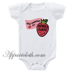 Auntie Is Berry Cute Funny Baby Onesie