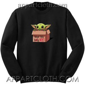 Baby Yoda Adopt Unisex Sweatshirts