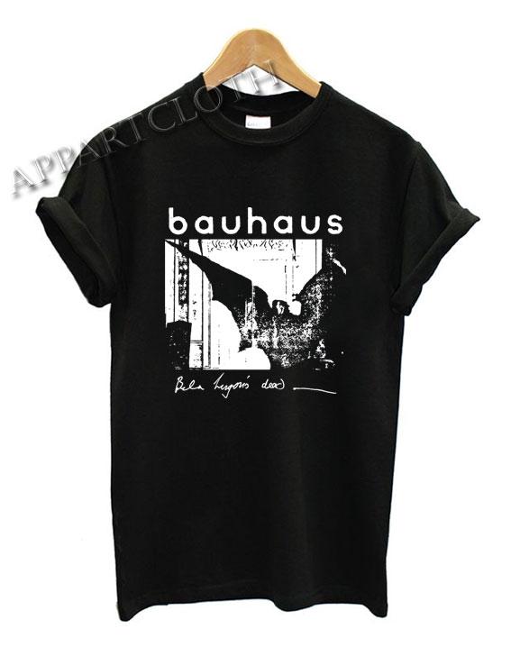 Bauhaus Bat Wings Bela Lugosi's Dead Shirts
