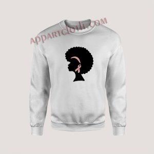 Breast Cancer Black Woman Unisex Sweatshirts