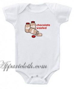 Chocolate Milk Wasted Funny Baby Onesie