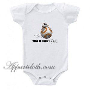 Cute Star Wars - This is How I Roll Funny Baby Onesie