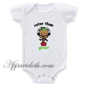 Cuter Than Groot Funny Baby Onesie