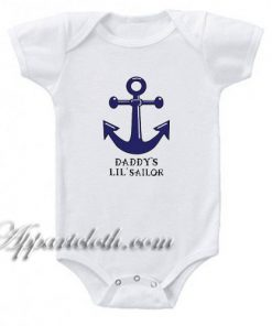 Daddy's Lil Sailor Funny Baby Onesie