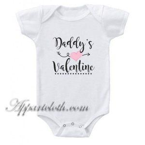 Daddy's Valentine Funny Baby Onesie