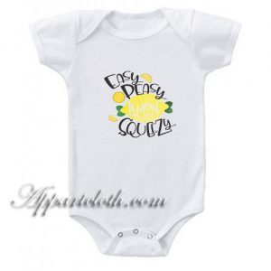 Easy Peasy Lemon Funny Baby Onesie