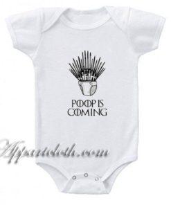 Game of Thrones - Poop Is Coming Funny Baby Onesie