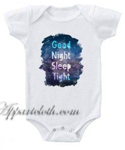 Good Night Sleep Tight Watercolor Funny Baby Onesie