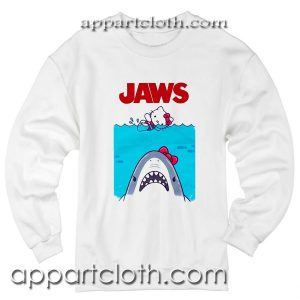 Hello kitty jaws Unisex Sweatshirts