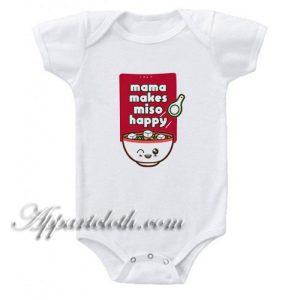 Mama Miso Happy Funny Baby Onesie