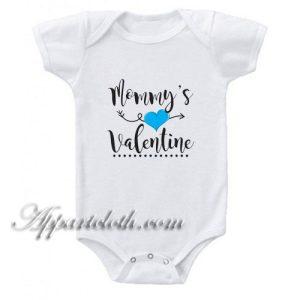 Mommy's Valentine Funny Baby Onesie
