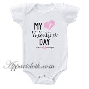 My 1st Valentines Day Funny Baby Onesie