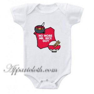 No More Mr Rice Guy Funny Baby Onesie