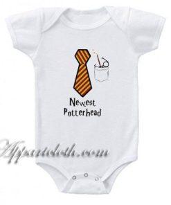 Potter Tie - Harry Potter Funny Baby Onesie