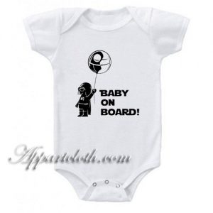 Star Wars Baby on Board Decal Funny Baby Onesie
