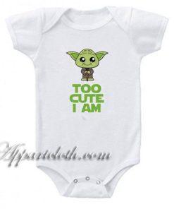 Star Wars Too - Cute I Am Yoda Gerber Funny Baby Onesie