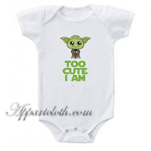 Star Wars Too - Cute I Am Yoda Gerber Funny Baby Onesie