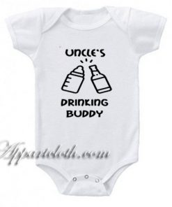 Uncles Drinking Buddy Funny Baby Onesie