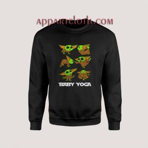 Baby Yoda Doing Yoga The Mandalorian Unisex Sweatshirts