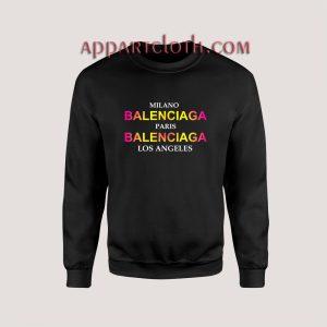 Balenciaga City Unisex Sweatshirts